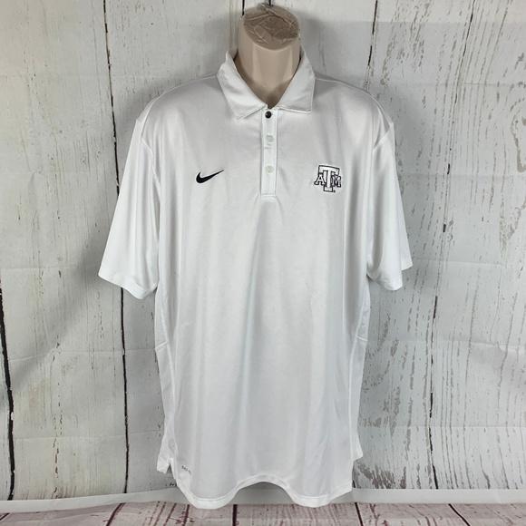 Nike Other - Nike Men's XL Texas A&M White Dri Fit Polo Shirt